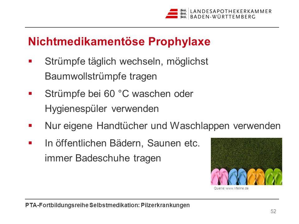Nichtmedikamentöse Prophylaxe