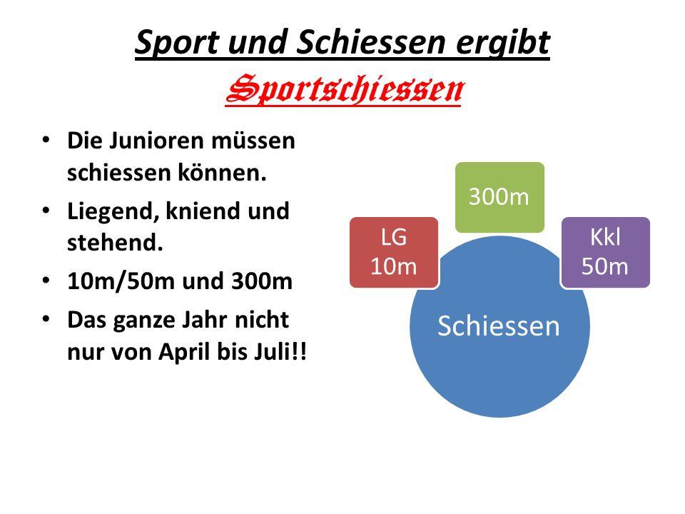 Sport und Schiessen ergibt Sportschiessen