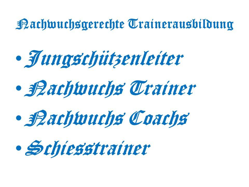 Nachwuchsgerechte Trainerausbildung