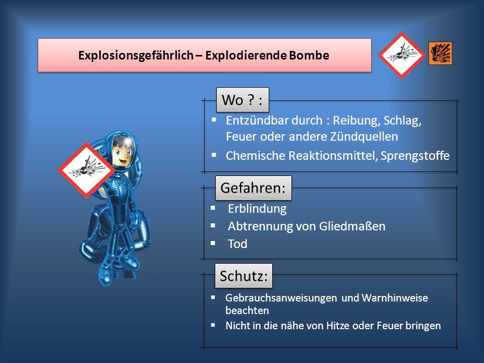 Explosionsgefährlich – Explodierende Bombe
