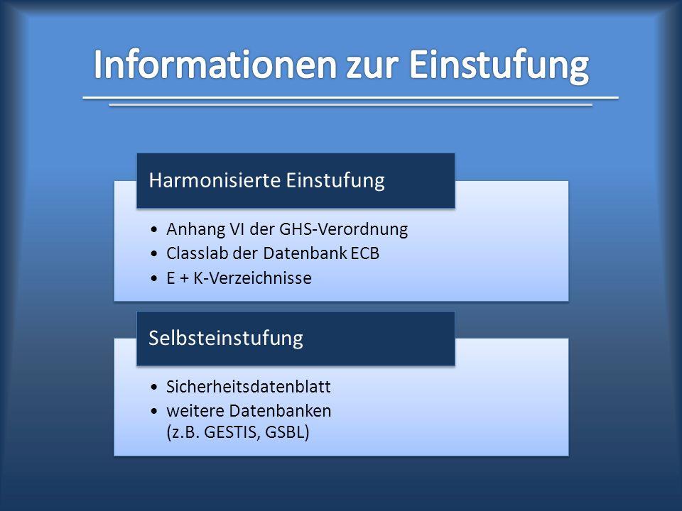 Informationen zur Einstufung