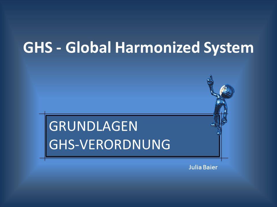 GRUNDLAGEN GHS-Verordnung
