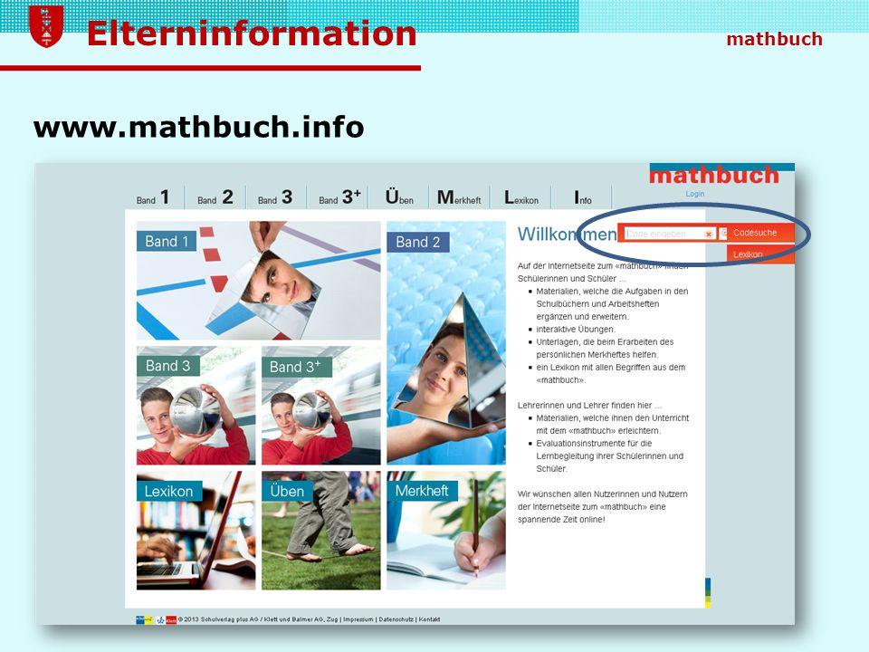 www.mathbuch.info Unter www.mathbuch.info findet sich eine Vielzahl zusätzlicher Aufgaben passend zur jeweiligen Lernumgebung.