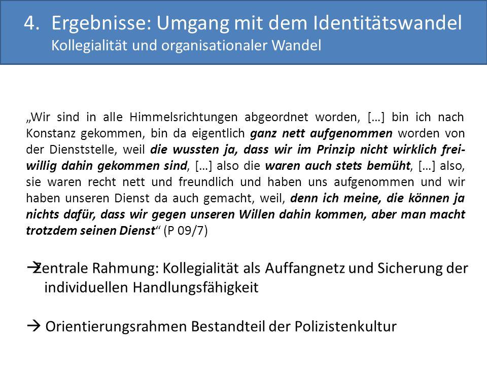 Ergebnisse: Umgang mit dem Identitätswandel