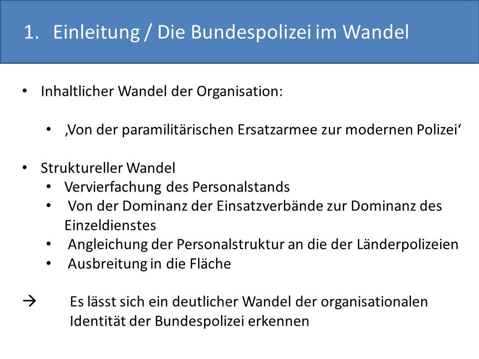 1. Einleitung / Die Bundespolizei im Wandel