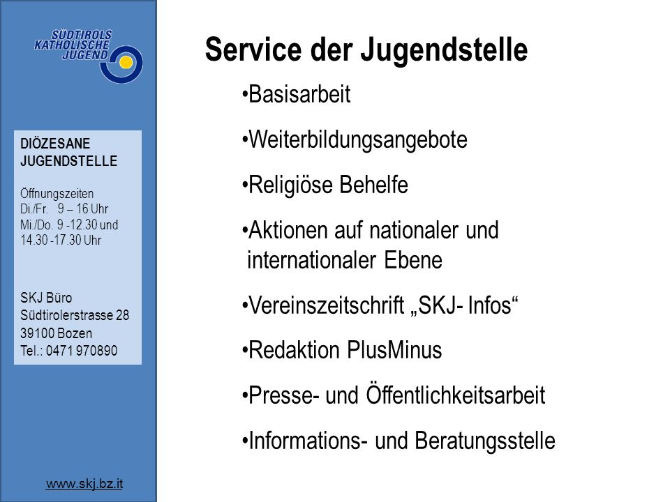 Service der Jugendstelle