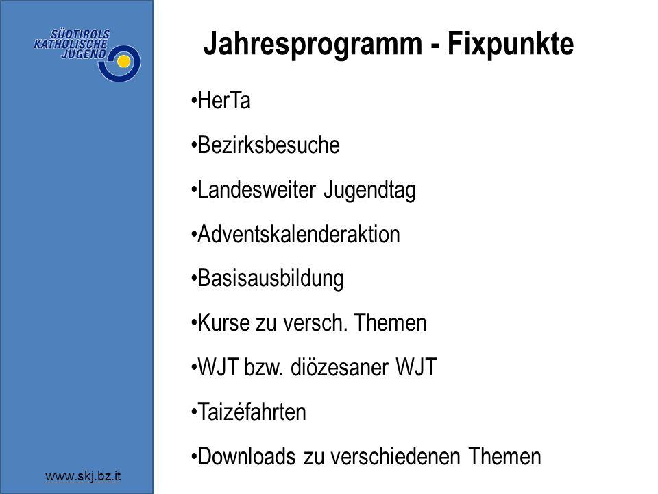 Jahresprogramm - Fixpunkte