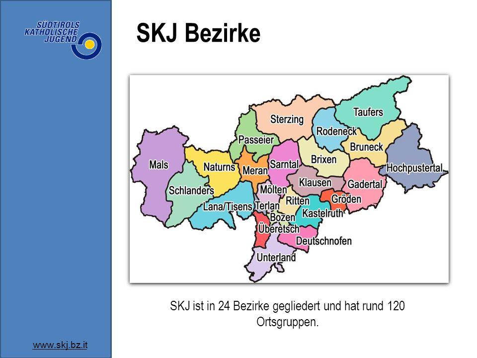 SKJ ist in 24 Bezirke gegliedert und hat rund 120 Ortsgruppen.