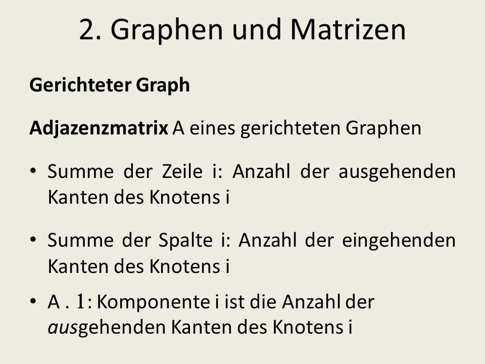 2. Graphen und Matrizen Gerichteter Graph