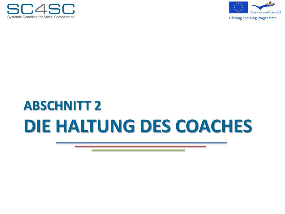 Abschnitt 2 die Haltung des coaches