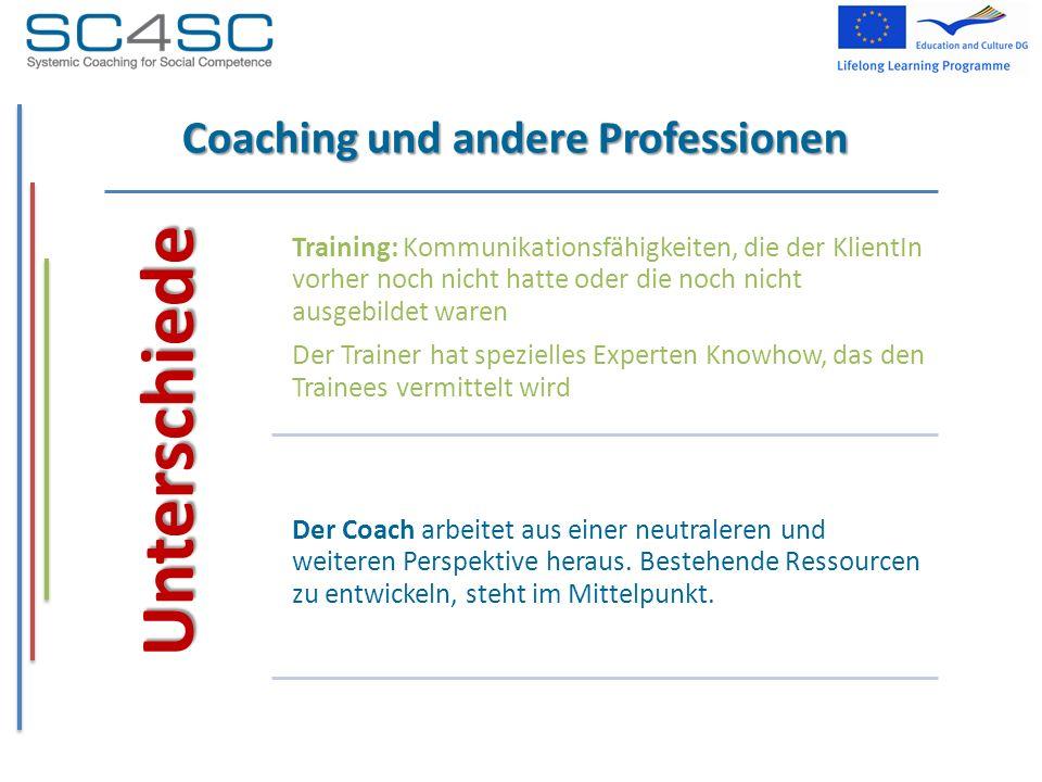 Coaching und andere Professionen