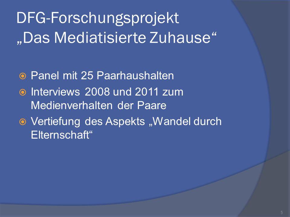 """DFG-Forschungsprojekt """"Das Mediatisierte Zuhause"""