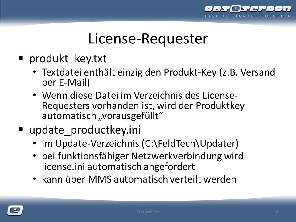 License-Requester produkt_key.txt update_productkey.ini