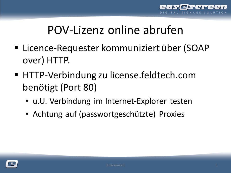 POV-Lizenz online abrufen