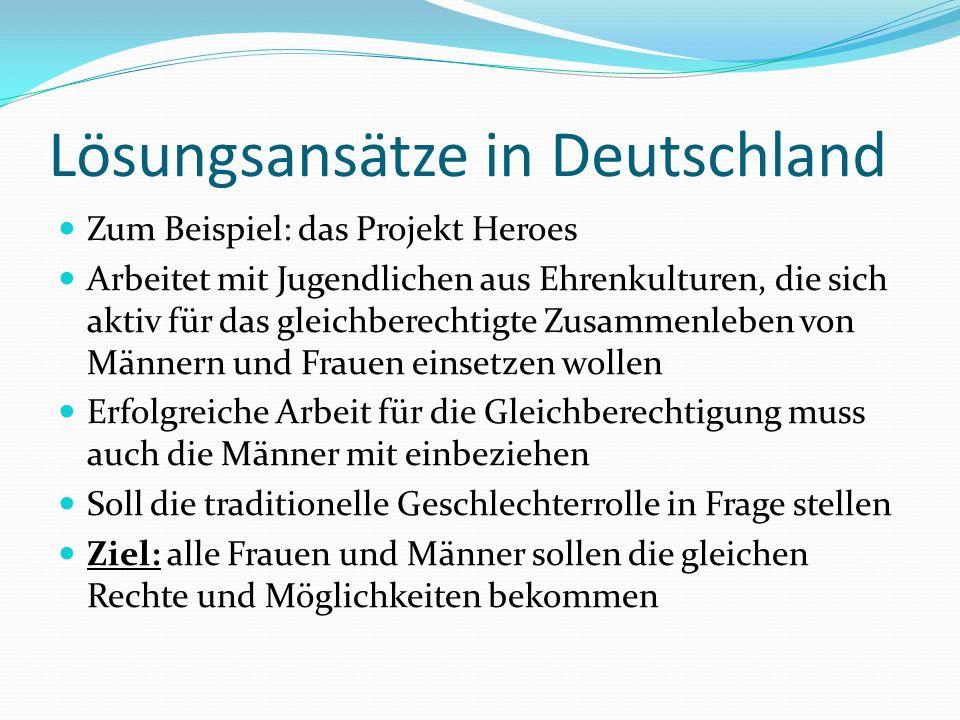Lösungsansätze in Deutschland