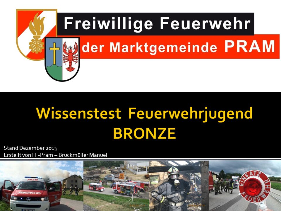 Wissenstest Feuerwehrjugend BRONZE