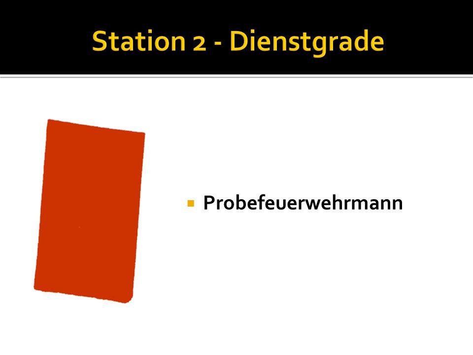 Station 2 - Dienstgrade Probefeuerwehrmann