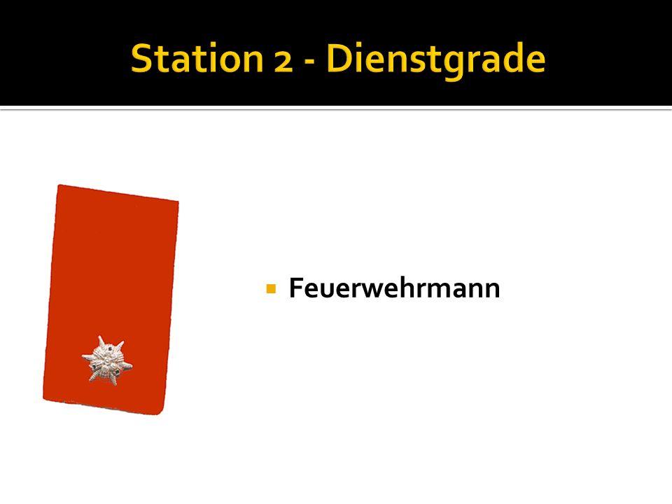 Station 2 - Dienstgrade Feuerwehrmann