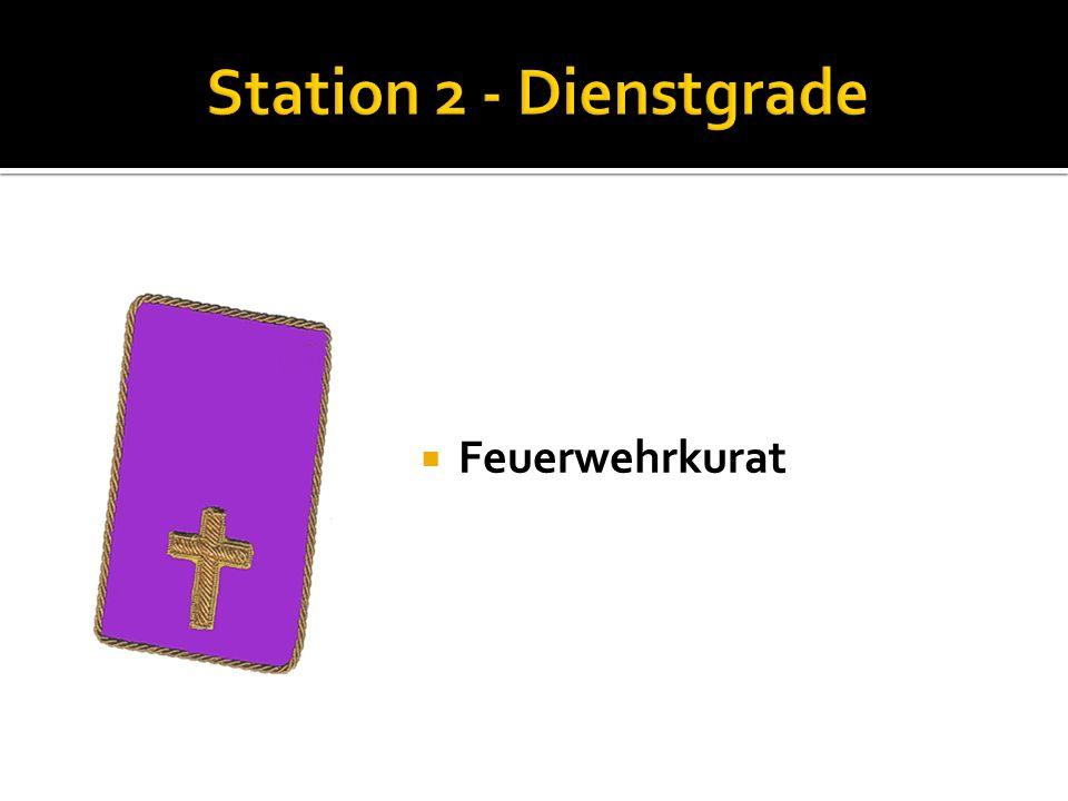 Station 2 - Dienstgrade Feuerwehrkurat