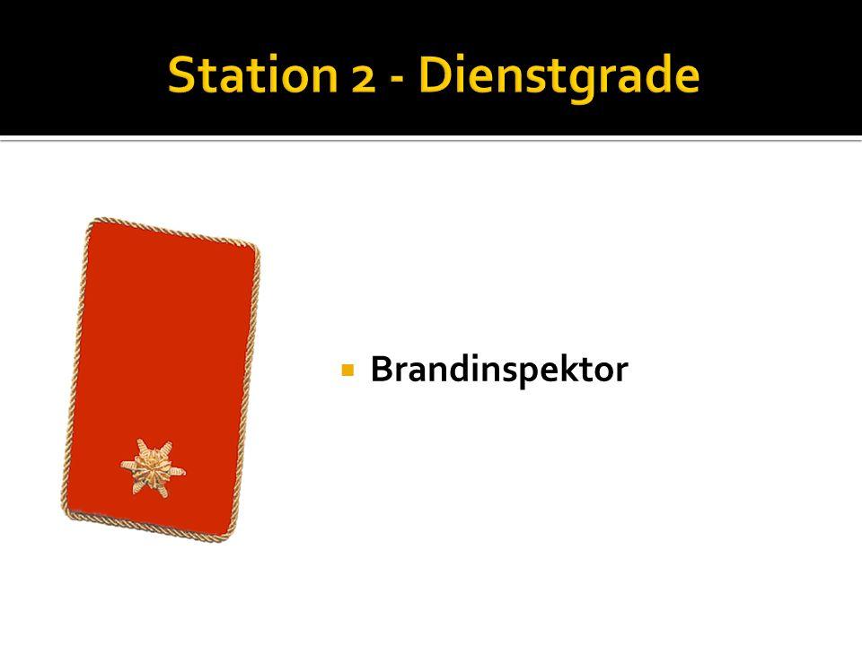 Station 2 - Dienstgrade Brandinspektor