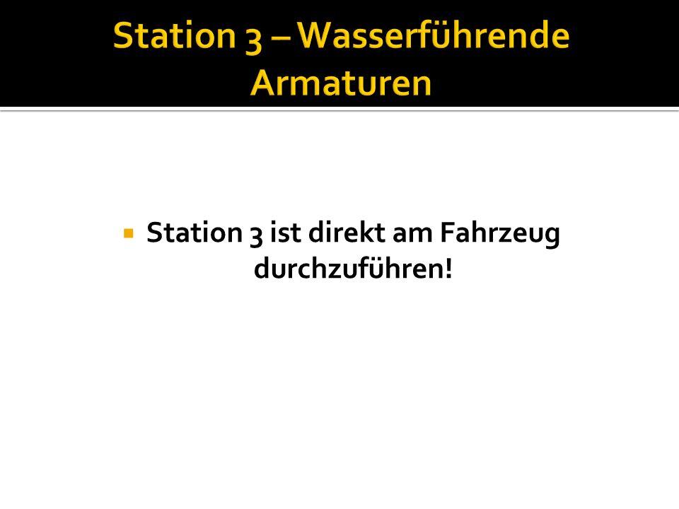 Station 3 – Wasserführende Armaturen