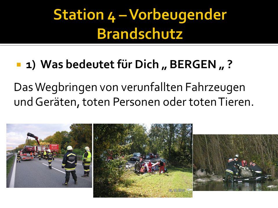 Station 4 – Vorbeugender Brandschutz