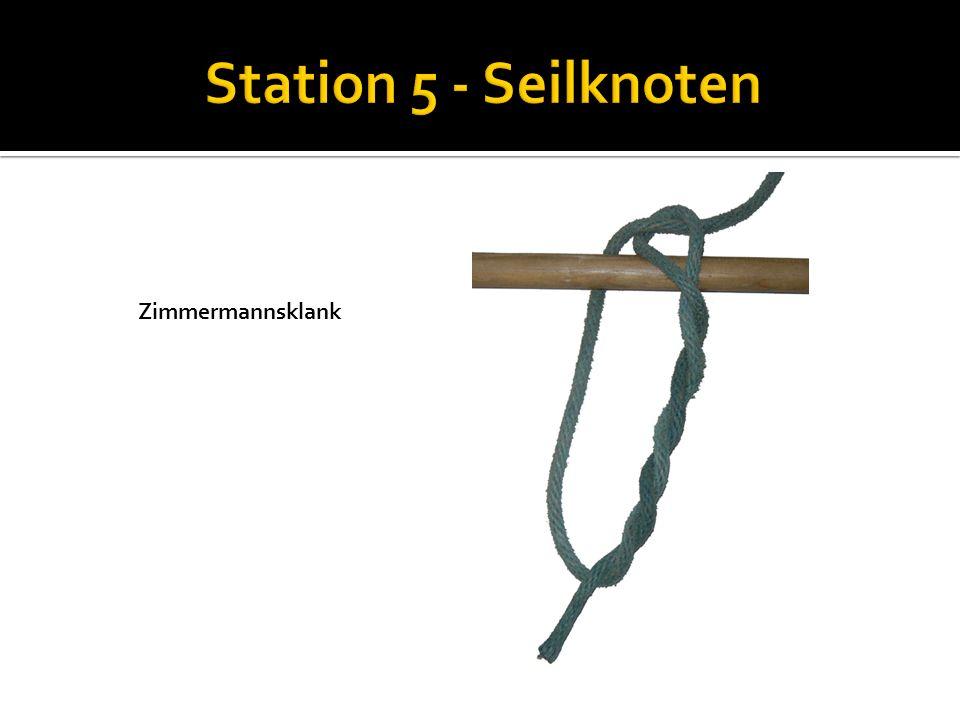 Station 5 - Seilknoten Zimmermannsklank