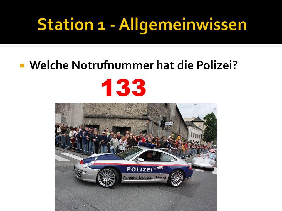Station 1 - Allgemeinwissen