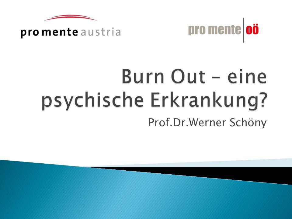 Burn Out – eine psychische Erkrankung