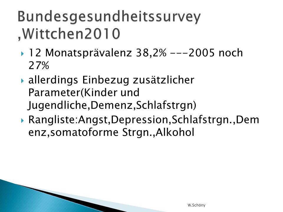 Bundesgesundheitssurvey ,Wittchen2010