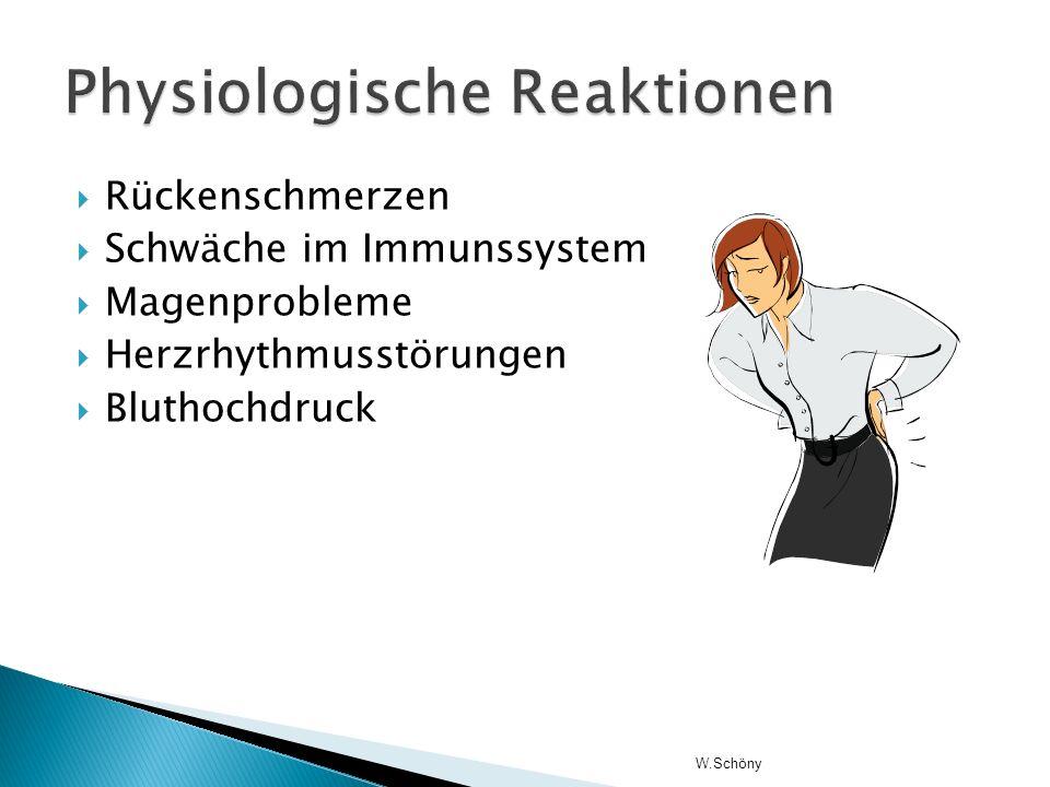 Physiologische Reaktionen