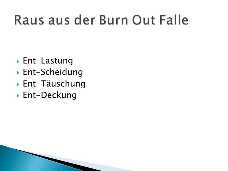 Raus aus der Burn Out Falle