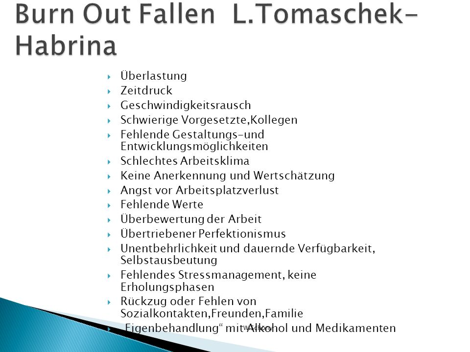 Burn Out Fallen L.Tomaschek-Habrina