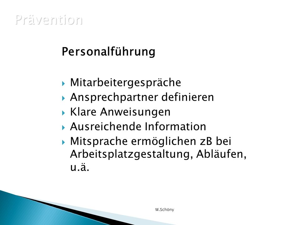 Prävention Personalführung Mitarbeitergespräche