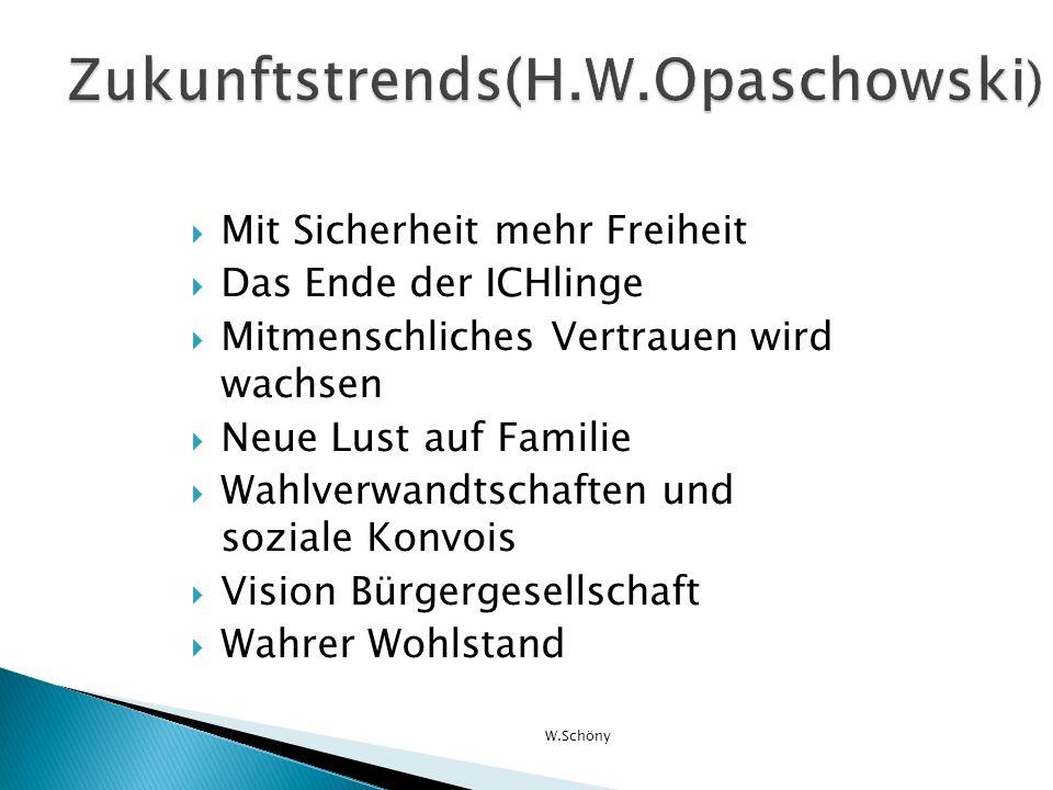 Zukunftstrends(H.W.Opaschowski)