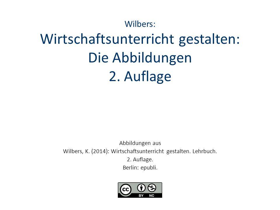Wilbers: Wirtschaftsunterricht gestalten: Die Abbildungen 2. Auflage