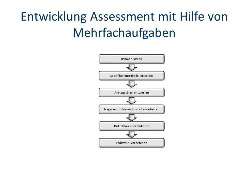 Entwicklung Assessment mit Hilfe von Mehrfachaufgaben