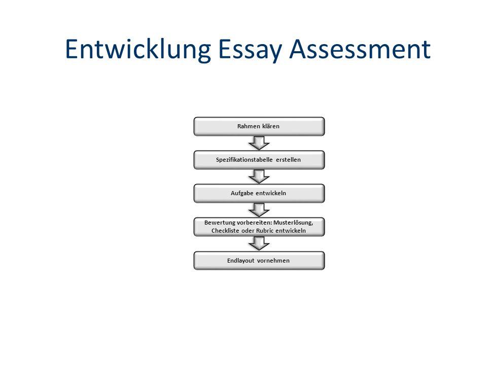 Entwicklung Essay Assessment