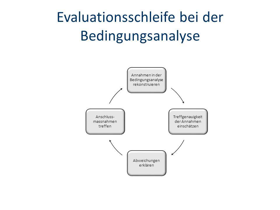 Evaluationsschleife bei der Bedingungsanalyse