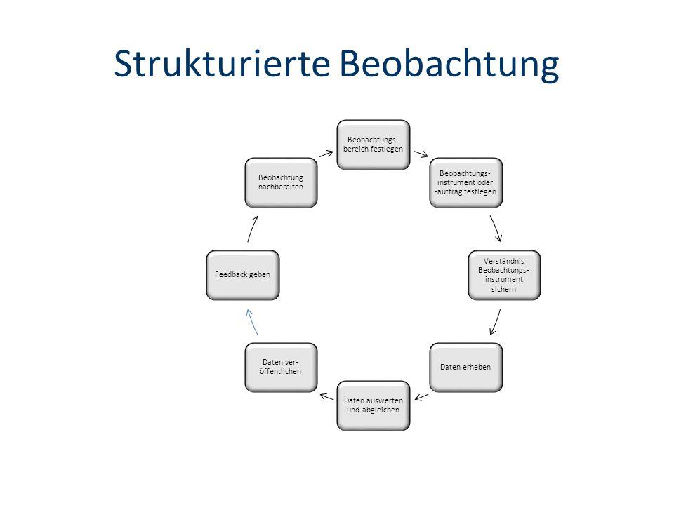 Strukturierte Beobachtung