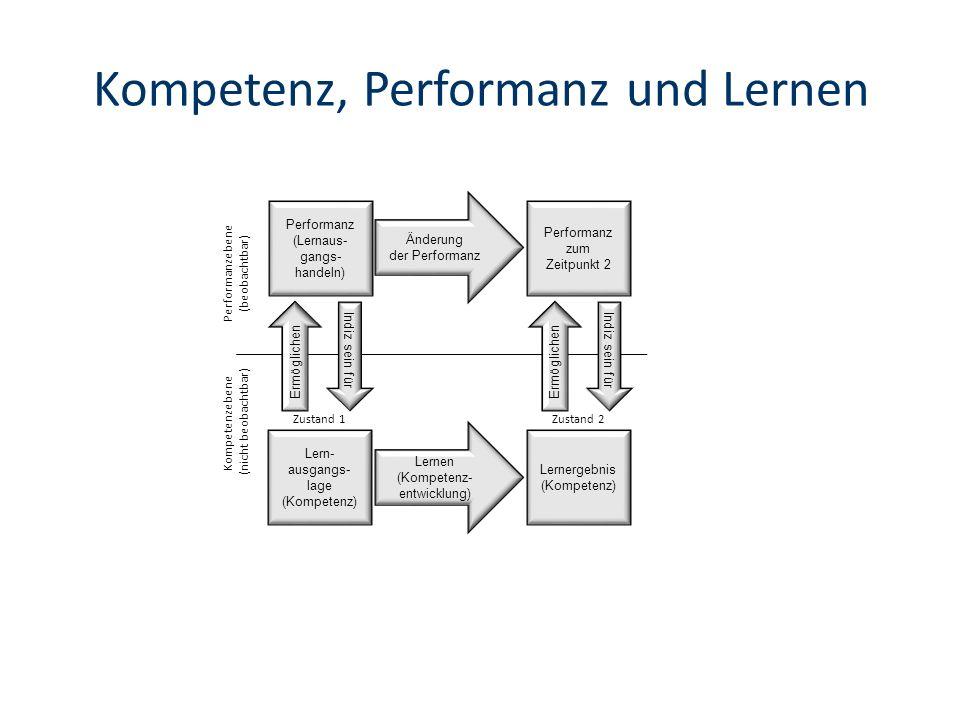 Kompetenz, Performanz und Lernen