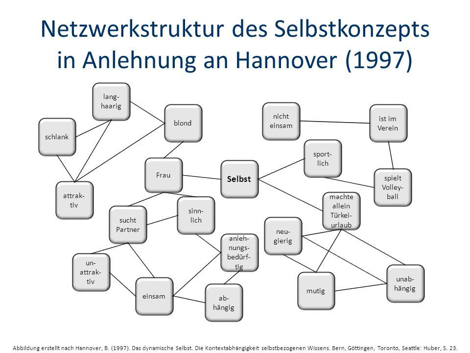 Netzwerkstruktur des Selbstkonzepts in Anlehnung an Hannover (1997)