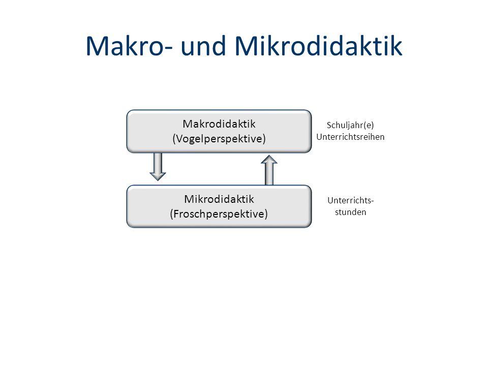 Makro- und Mikrodidaktik