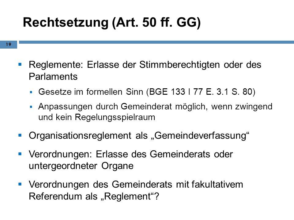 Rechtsetzung (Art. 50 ff. GG)