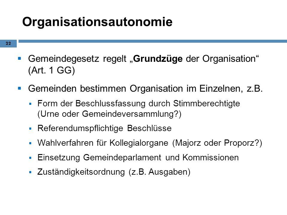 Organisationsautonomie