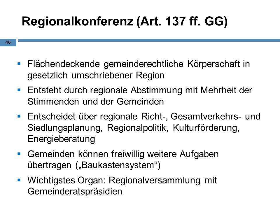 Regionalkonferenz (Art. 137 ff. GG)