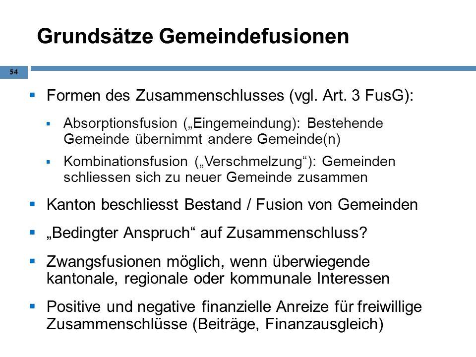 Grundsätze Gemeindefusionen