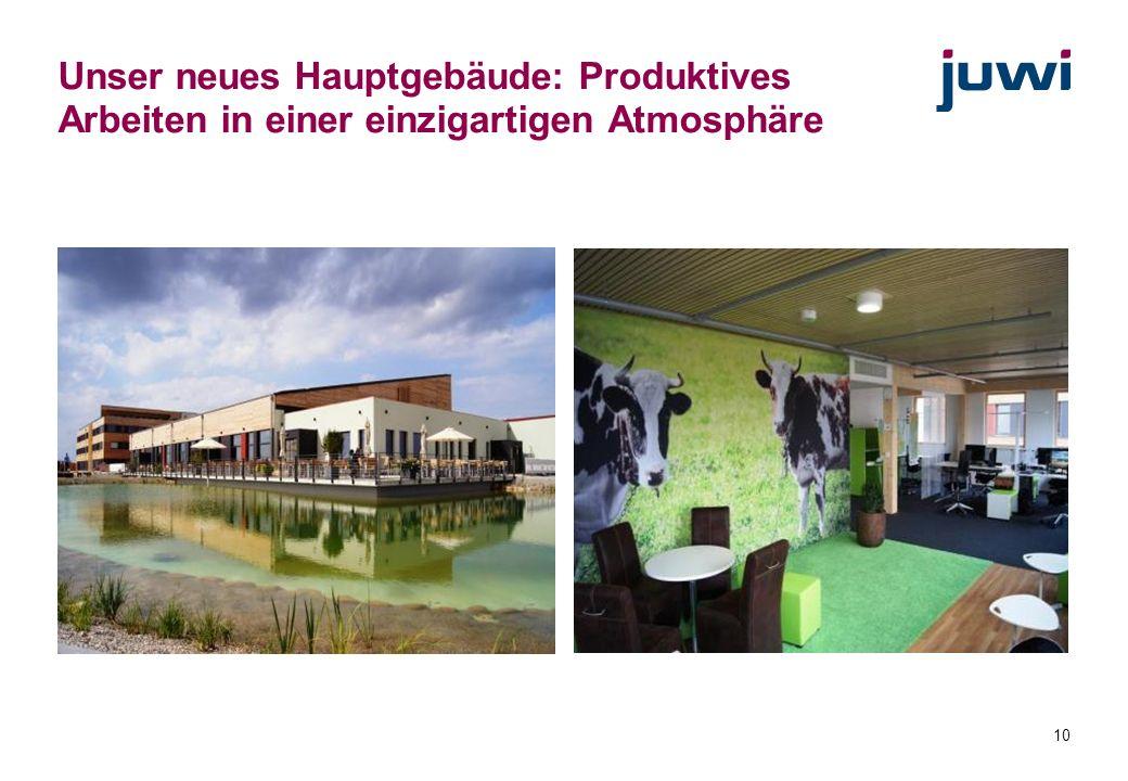 Unser neues Hauptgebäude: Produktives Arbeiten in einer einzigartigen Atmosphäre