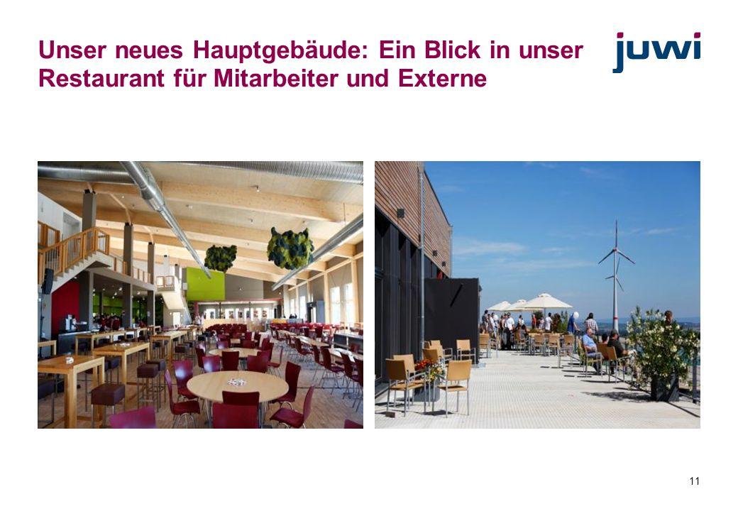 Unser neues Hauptgebäude: Ein Blick in unser Restaurant für Mitarbeiter und Externe