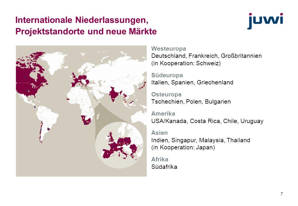 Internationale Niederlassungen, Projektstandorte und neue Märkte